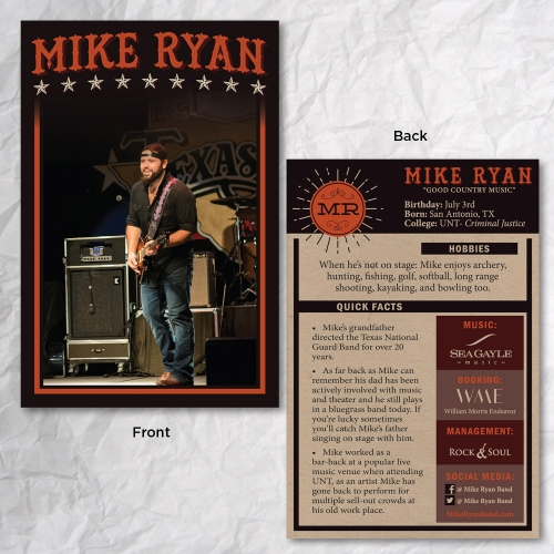Mike Ryan Baseball Card